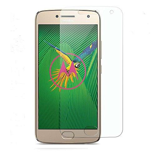 Moto G5 Schutzfolie, KuGi Moto G5 panzerglas folie - 9H Härte HD klar gehärtetem Glas Displayschutzfolie für Moto G5 smartphone. (Moto-screen-ersatz)