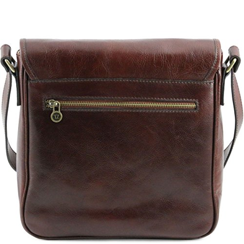 Tuscany Leather TL Messenger - Borsa a tracolla 1 scomparto Nero Cartelle in pelle Miele