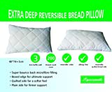"Extra Soft ""BREAD"" Pillow With Baffle Wall - Rises Back Like A Loaf"