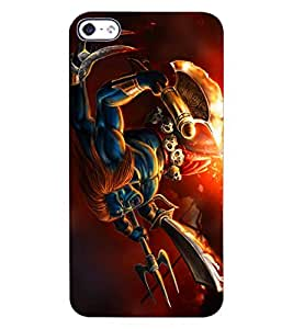 ColourCraft Lord Shiva Design Back Case Cover for APPLE IPHONE 4S