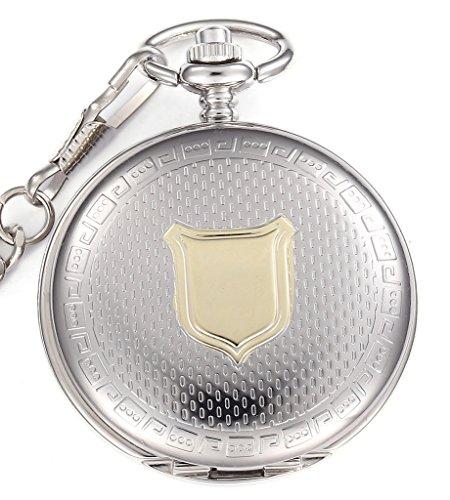 Unendlich U Klassisch Schild Retro Handaufzug Mechanische Taschenuhr Hohle Skelett Kettenuhr Pullover Halskette Silber