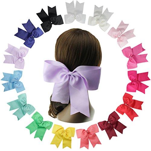 HBF 15 stk mehrfarbig Haarspange Haarband Accessoire Fliege Schleife mit Blumen Deko für Kinder (Und Spinne Kostüm Fliege)