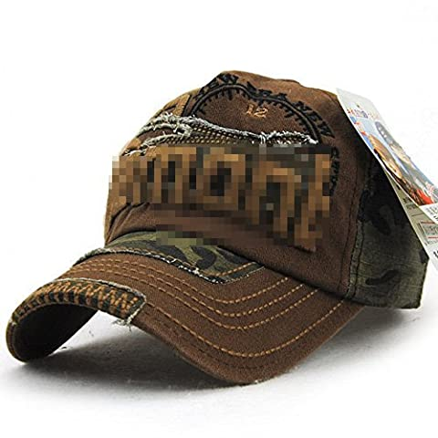 Ahat Brown Fashionable und Casual Cotton Baseball Cap mit Camouflage