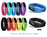 #9: JOMOQ Small Replacement Accessory Wrist Bands with Plastic Clasps for Garmin Vivofit 10PCS(No Tracker, Replacement Bands Only)