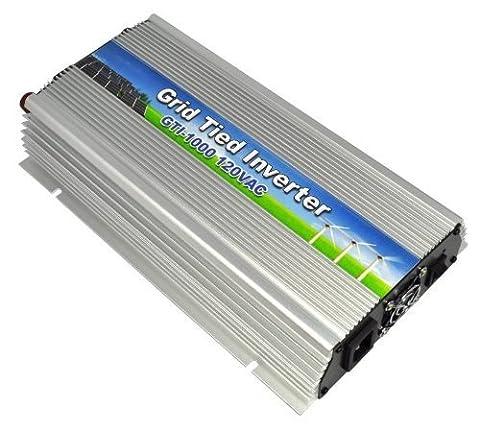 12V Monster 1000W/1kW DC 12V–110V/220V Plug & Play AC vers DC Grid Tie Inverter d'alimentation pour panneau solaire au système de Générateur Maison de sortie efficace, haute fréquence haute Taux de conversion