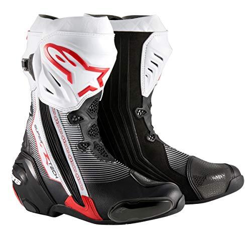 Alpinestars Supertech R Racing moto sportiva Track stivali nero/bianco/rosso 44