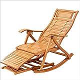 Eeayyygch Liegen Stuhl/Schaukelstuhl Tragbare Bambus Holz Multifunktions Mit Armlehnen Moderne Freizeit Designer Stuhl Für Mittagspause Hause Balkon