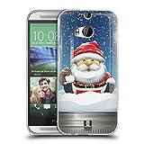 Head Case Designs Santa Weihnachten Im Einweckglas Soft Gel Hülle für HTC One M8 / M8 Dual SIM