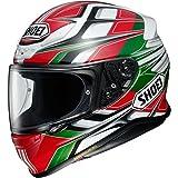 Shoei Helm NXR Rumpus , TC-4 rot-weiß-grün-schwarz, L