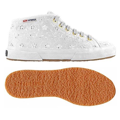 Superga 2754-Sangallosatinw, Sneaker a Collo Alto Donna White
