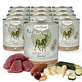AniForte® PureNature Nassfutter 800g Wild Forest Hundefutter- Naturprodukt für Hunde (Frisches Wild, 12x800g)