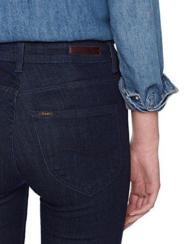 Lee Damen Skinny Jeans Scarlett High Blau (Solid Blue Ahkt)