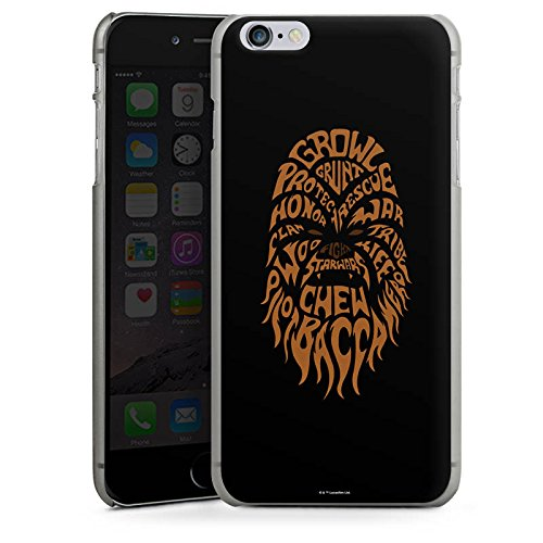 Apple iPhone X Silikon Hülle Case Schutzhülle Star Wars Merchandise Fanartikel Chewbacca Typo Hard Case anthrazit-klar