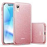 ESR Coque pour iPhone XR 2018 Rose, Coque Silicone Paillette Strass Brillante Bling...