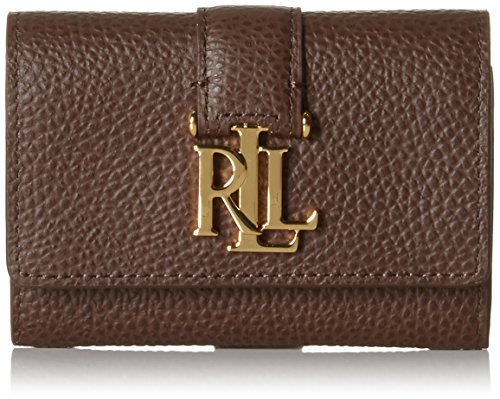 Ralph LaurenCommuter Wallet - Portafoglio Donna , marrone (Braun (Burnished Brown)), 3x7.5x10 cm (B x H x T)