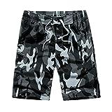 LIGESAY Herren Shorts Freizeit Camouflage Drucken Strand Taschen Surfen Schwimmen Lose Short Hose...