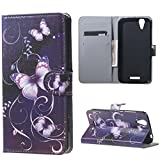 Liquid Z630 Cover,PU Leder Brieftasche Flip Cover Case