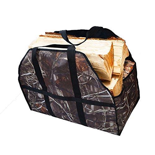 Asvert Holz Tasche Brennholz Tote Log Carrier mit Strap, 22*17*4.7cm, Camo (Tote Tragetasche)