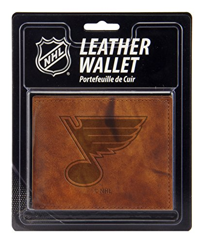 Unbekannt NHL St. Louis Blues geprägtes Leder billfold Wallet (Louis Blues Herren Leder)