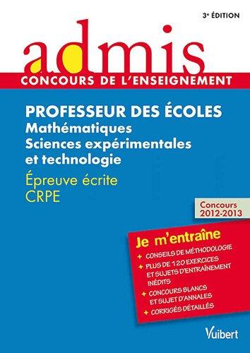 concours-professeur-des-ecoles-mathematiques-et-sciences-experimentales-et-technologie-epreuve-ecrit