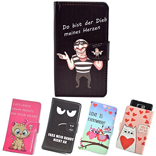 ikracase Slide Motiv Hülle für MEDION Life E4504 Smartphone Handytasche Handyhülle Schutzhülle Tasche Case Cover Etui Design 4 - meines Herzen
