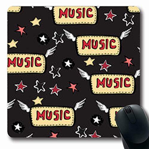 Gsgdae Mousepads Kopf Hand gezeichnet Skizzen Starsarrows Musik Rock Roll Aggressive längliche Form 20 x 24 cm länglich Gaming Mauspad Anti-Rutsch Mauspad