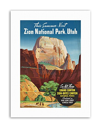 Wee Blue Coo LTD Summer Grand Canyon North Rim Bryce Zion NATIONAL Park Utah Poster Travel