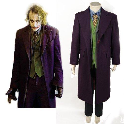 Die Dark Knight Rises Batman Joker Voll Outfit Kostüm-Bitte mailen Sie uns Ihre benutzerdefinierten (Joker Outfit The Knight Dark)