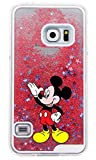 Phone Kandy Hart Transparent Shell Glitter Stars Sparkle Telefon-Kasten mit Karikatur Hülle Abdeckung Haut tascen (Samsung Galaxy S8, Mickey)