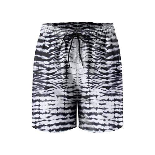 Jocper Herren Tie Dye Print Schnelltrocknend Strand Surf Board Shorts Badehose Cargo Shorts XXL - Junioren Tie Dye