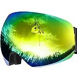 Maschera da Sci, OMORC Occhiali da Snowboard, Super-Grandangolo a...