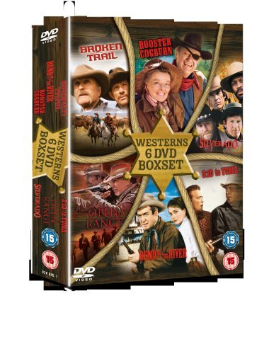6 Film Westerns Box Set: 3:10 To Yuma/ Bend Of The River/ Broken Trail/ Open Range/ Rooster Cogburn/ Silverado [DVD] by Glenn Ford Le Rooster Set