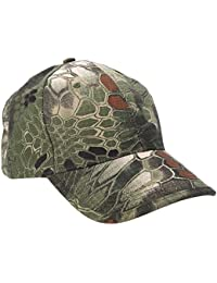 Outdoor Cap - SODIAL(R)Boa Grain Baseball Cap Bionic Camouflage Sun Hat Outdoor Hunting Camping Hiking Cycling Peaked Cap Army Green