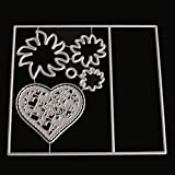 FlYHIGH Fustelle in Metallo Cuori Taglio Muore Stencil Fai da Te Scrapbooking Photo Album Card Embossing Craft