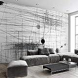 Carta Da Parati Personalizzata Murale Linee A Strisce Bianche Nere Arte Astratta Pittura Murale Soggiorno Divano Tv Sfondo 3D Photo Wall Paper Decorazione Di Mobili (W)200x(H)140cm