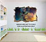 Guardians of the Galaxy BABY Groot Loch in 3D Effekt Wandaufkleber geeignet f?r Kinder Schlafzimmer W?nde, T?ren und Fen
