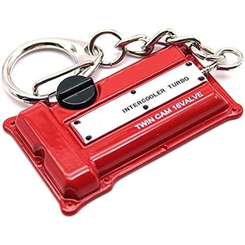 Creative Auto Waterwood parte modello NISSAN S14/S15 S13/SR20DET motore Portachiavi ad anello portachiavi, con panno per la pulizia, colore: rosso