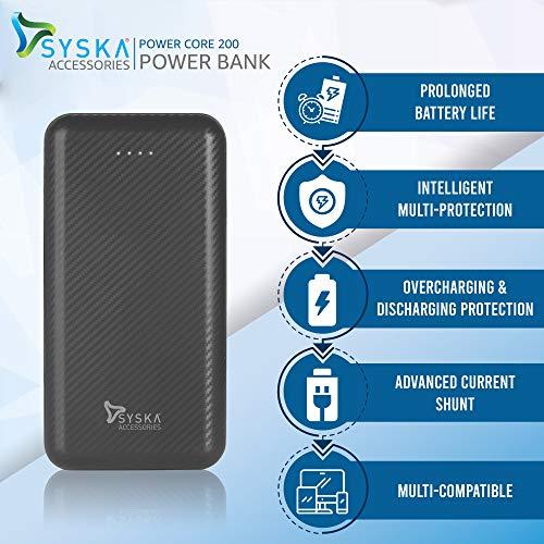 Syska Power Core 200 20000 mAH Lithium Polymer Grey Image 5