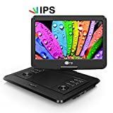 14 Inch Portable Dvd Players CUtrip Full HD Decorder IPS Screen Mobile Dvd Player , Inbuilt 4000 mAh Rechargeable Battery, Directly Play 1080P MP4 MOV MKV AVI