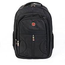 Hansemay Mochila para portátil mochila de viaje de negocios impermeable y resistente al desgaste mejor se adapta a la mayoría 15.6in (negro)