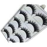 westeng 5paires style naturel noir faux cils faux cils Extension Fashion pour maquillage