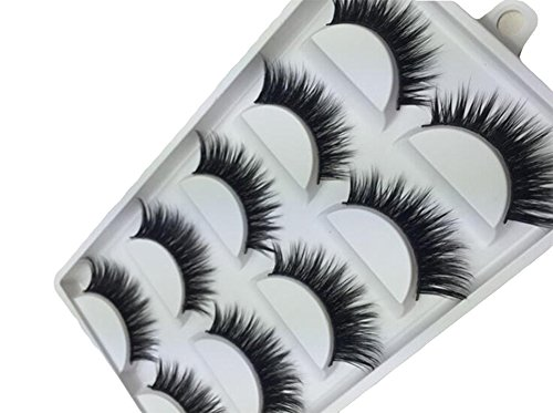 Ruikey 5 Pairs Natural Look Fake Eye Lash False Eyelashes Extension Makeup