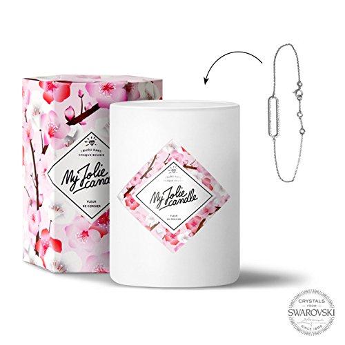 Candele-gioiello fiori di ciliegio–bracciale