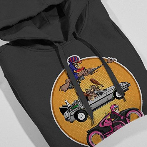 Wacky Races And Beyond Women's Hooded Sweatshirt Charcoal