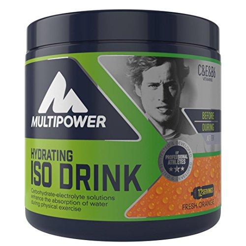 Multipower Hydrating Iso Drink (isotonisches Getränkepulver mit L-Carnitine - Sportgetränk ohne künstliche Süßstoffe), Fresh Orange (1 x 420g)