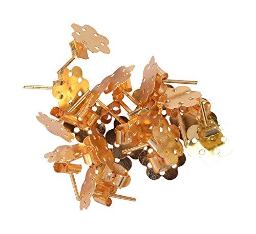 AM Metal Flower Stud Base with locks for earrings