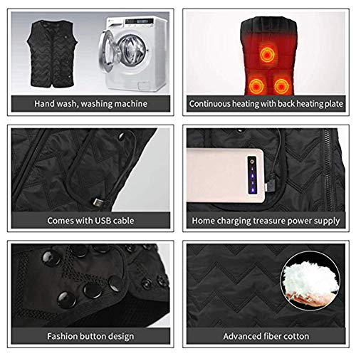 51wJfsKLJcL. SS500  - OUTANY USB Rechargeable Electric Body Warm Vest, Freely Adjustable 4 Sizes, Heated Clothing, Adjustable Temperature, Washable