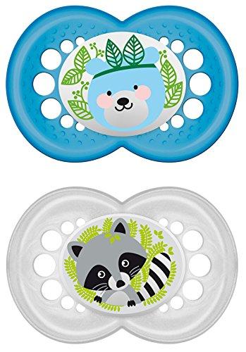 MAM 702211 - Original Latex 16+, Schnuller, für Jungen, Doppelpack, farblich sortiert - BPA frei