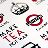 East of India Sheet of 35 London / Bus Keep Calm Stickers