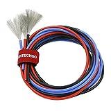 bntechgo 14Gauge Silikon Draht High Temperature Resistant Weich und flexibel 14AWG Silikon Draht 400Stränge von Kupfer Draht